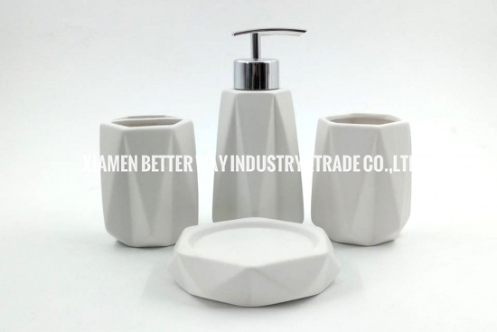 white ceramic bathroom accessories set